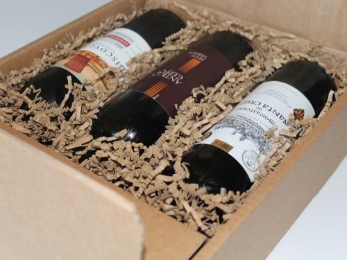 3 flasker vin