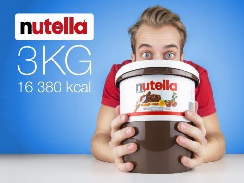 3 kg nutella stor spand med 3 kg nutella. Black Bedroom Furniture Sets. Home Design Ideas