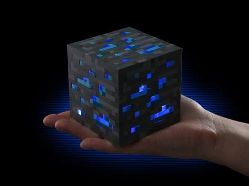 Minecraft diamant natlampe