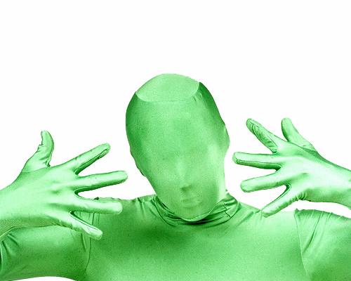 green man suit